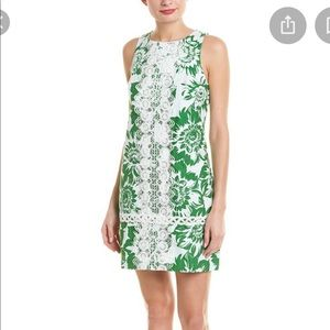 Eliza J green sleeveless shift dress